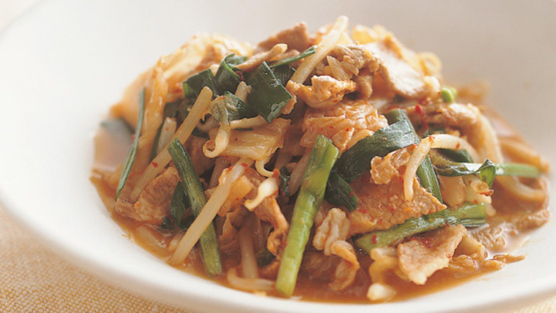 豚肉と野菜のキムチ煮