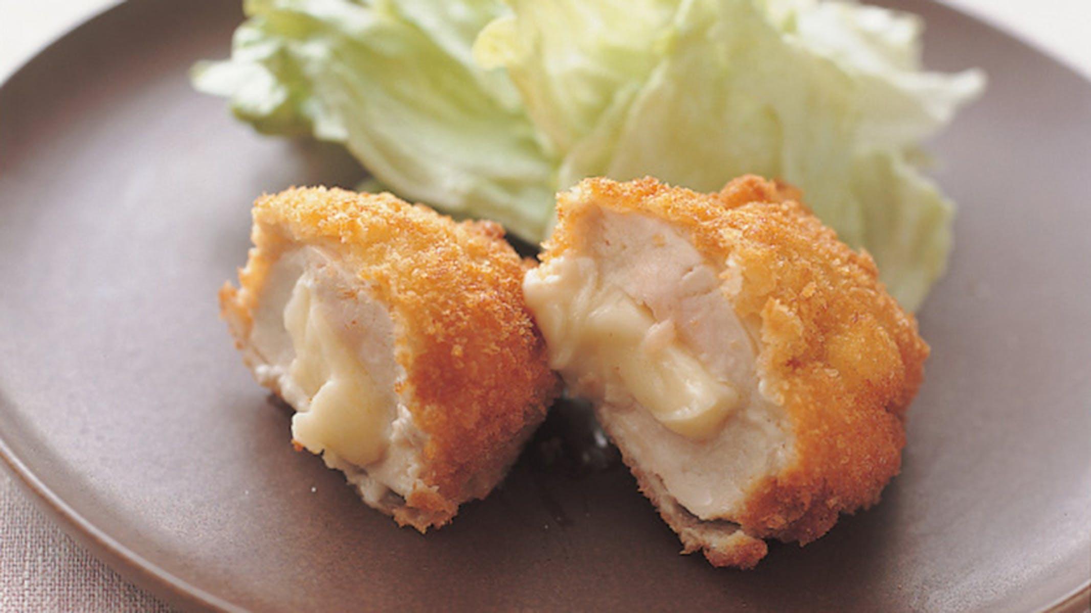 鶏むね肉のチーズサンドフライ