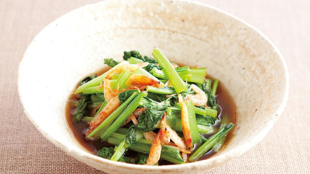 小松菜と桜えびの煮びたし