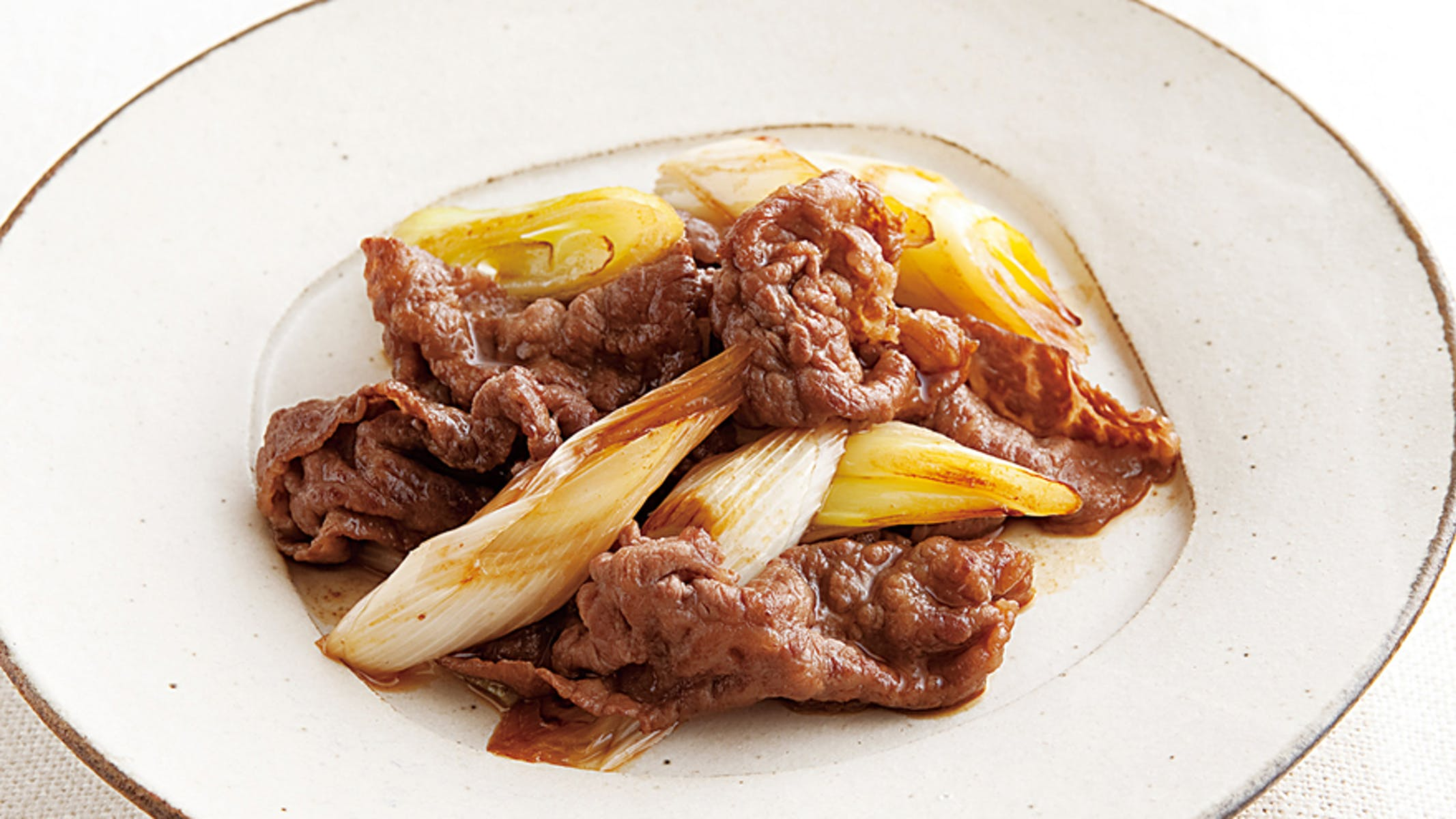 牛肉とねぎの甘辛炒め