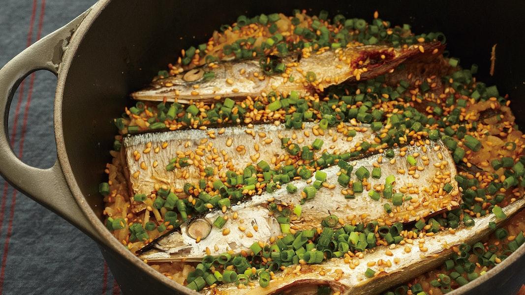 さんまの韓国風炊き込みご飯