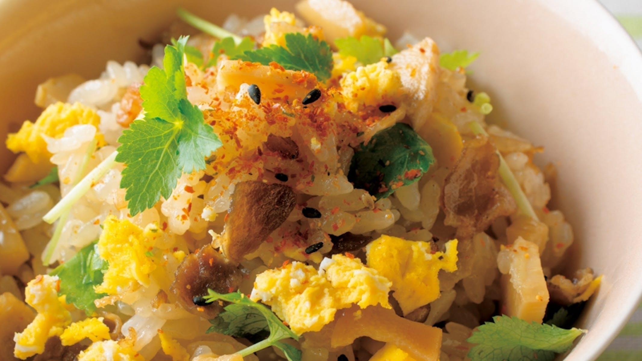 たま卵たけのこ混ぜご飯