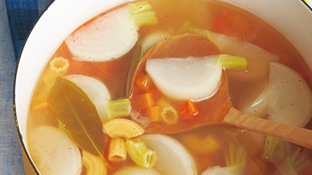 かぶとパスタのスープ