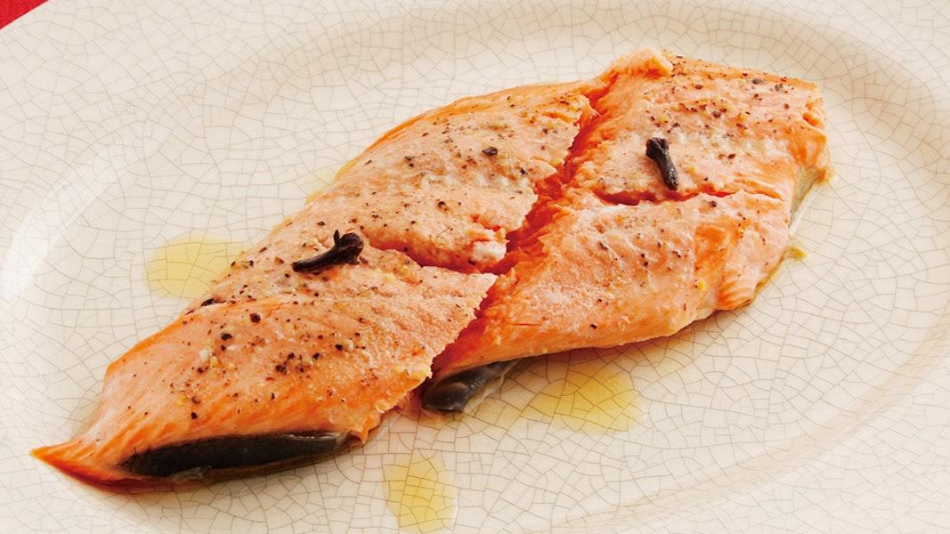 鮭の香味蒸し