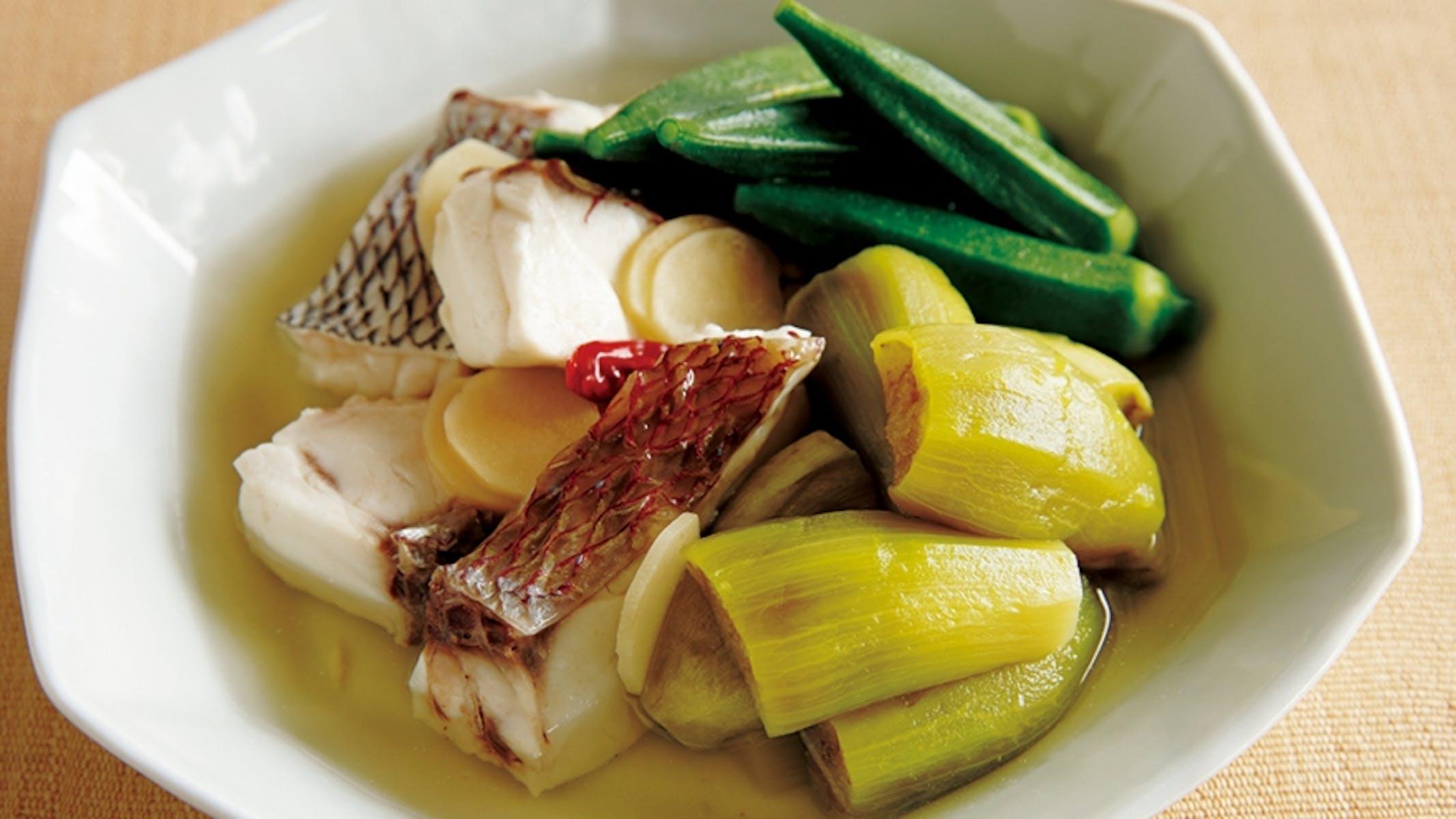 白身魚と野菜の塩煮