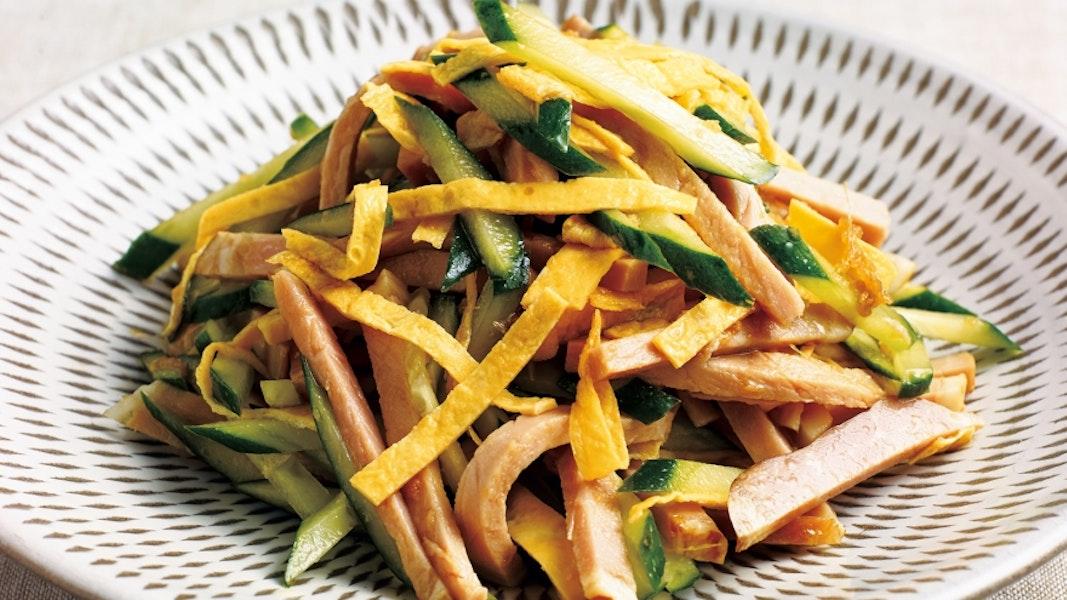 焼き豚ときゅうりの中国風サラダ