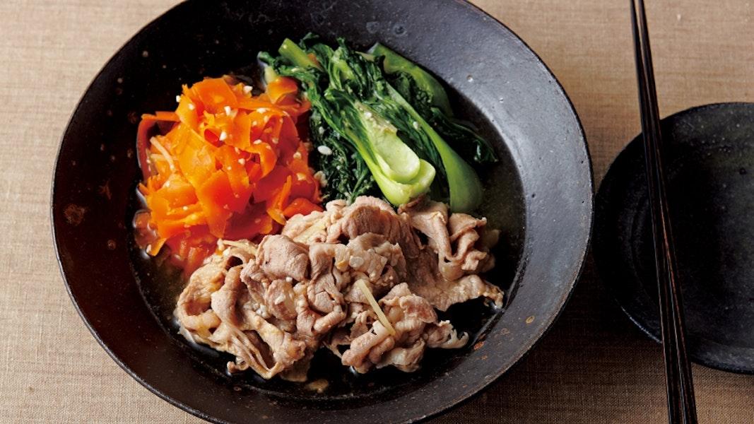 豚しゃぶと野菜の塩こうじ煮
