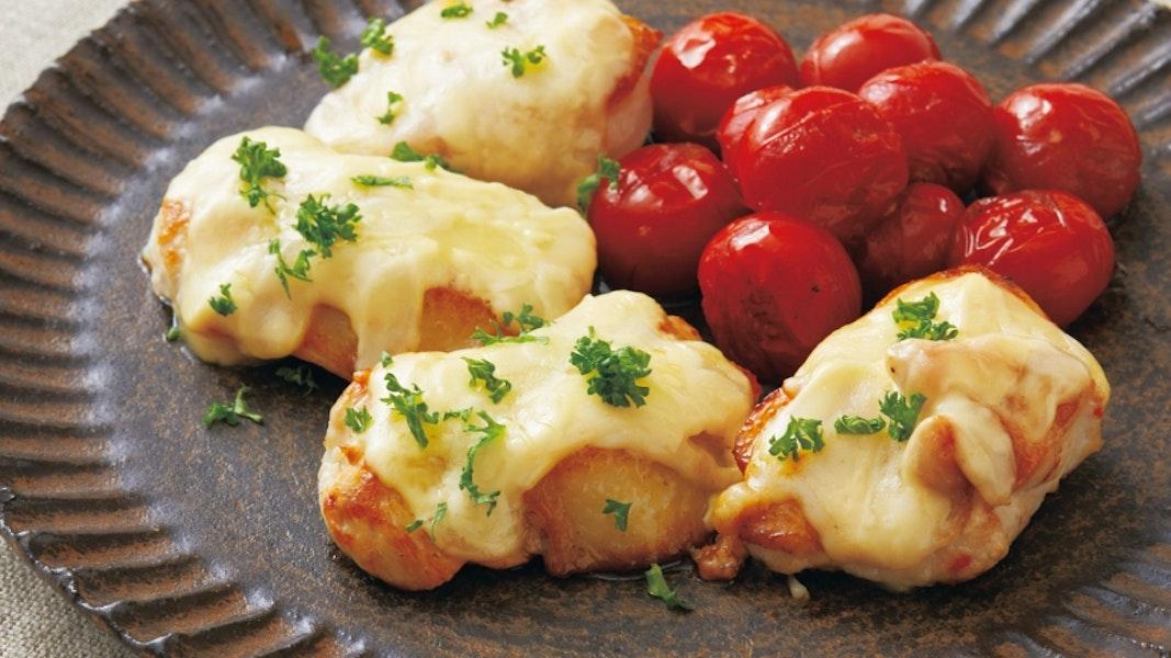 鶏むね肉のマヨチーズ焼き