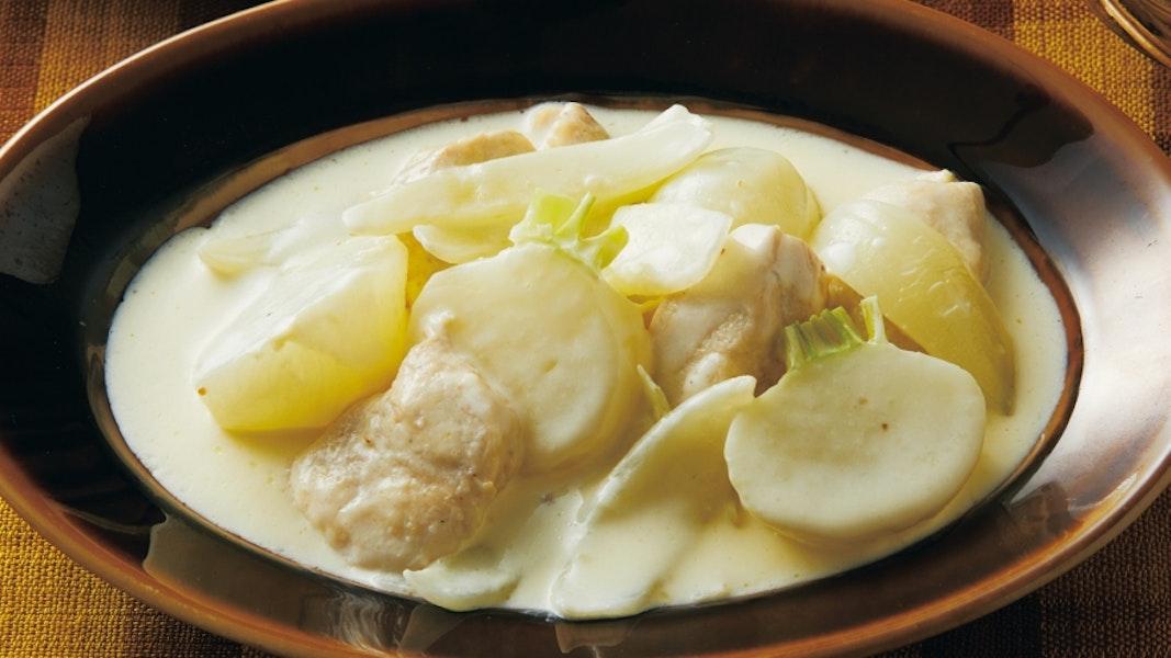 鶏とかぶのクリーム煮