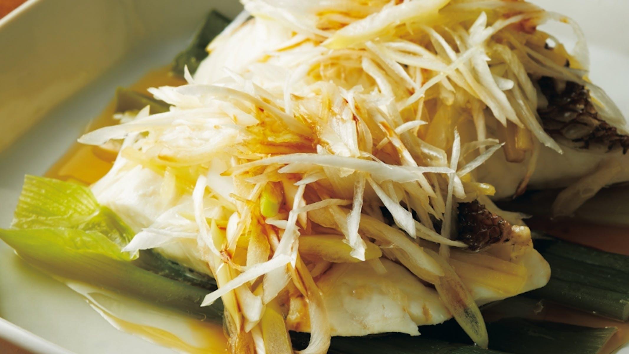 白身魚の中国風香味蒸し