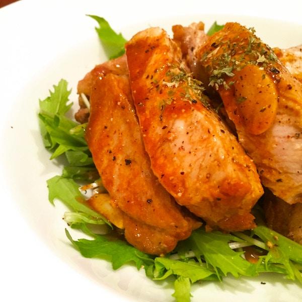 豚ロースのスタミナカレーソテー