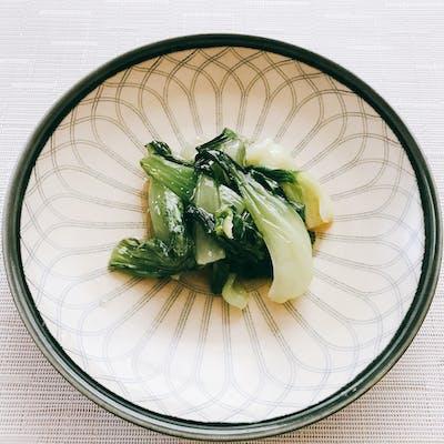 レンジでチンゲン菜の中華炒め