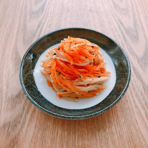 にんじんとえのきの中華風サラダ