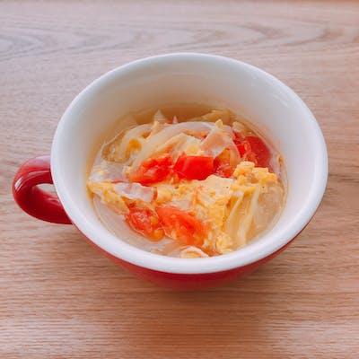キャベツとトマトのたまごスープ