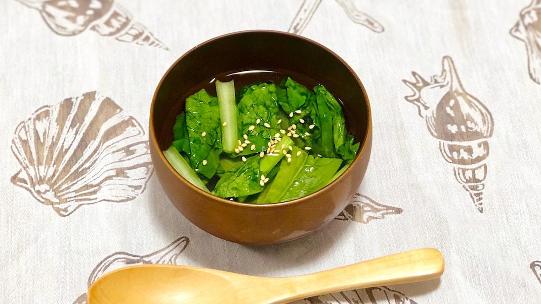 青梗菜のあっさりスープ