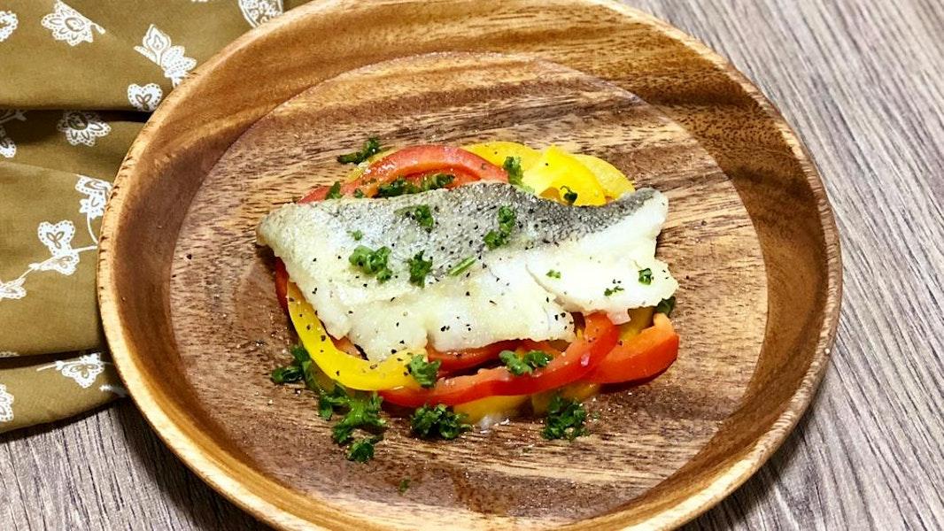 ペペロナータの鱈ソテー