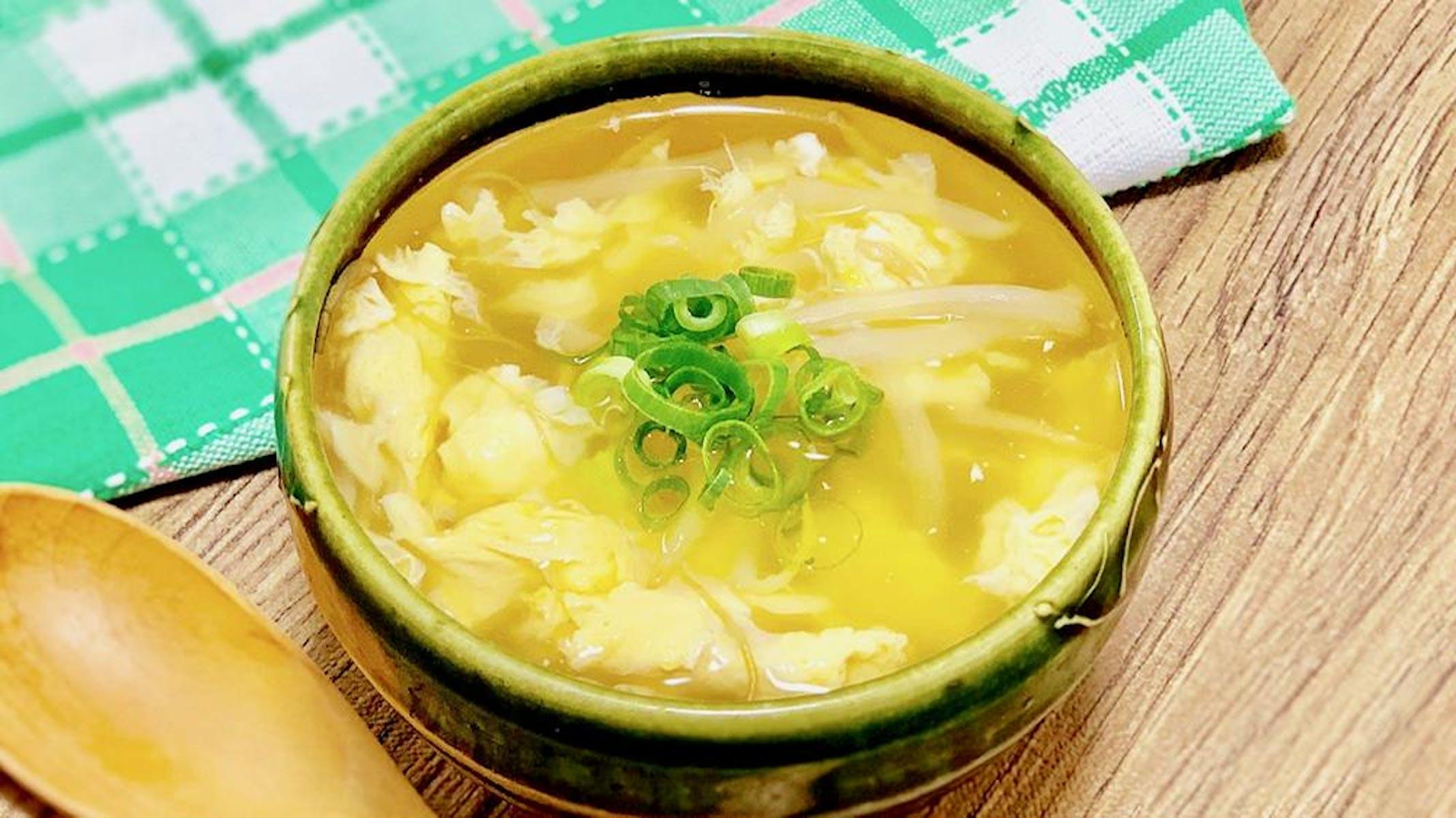 簡単!卵の中華風もやしスープ