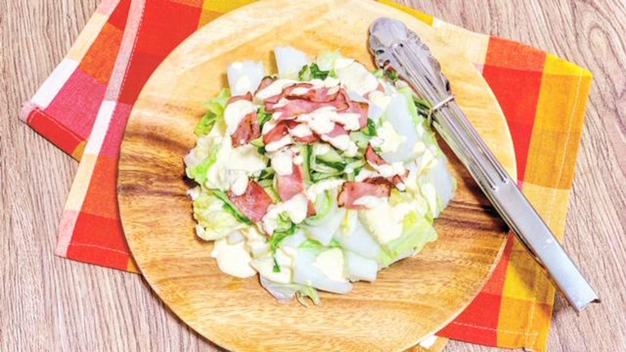 山東菜のシーザーサラダ