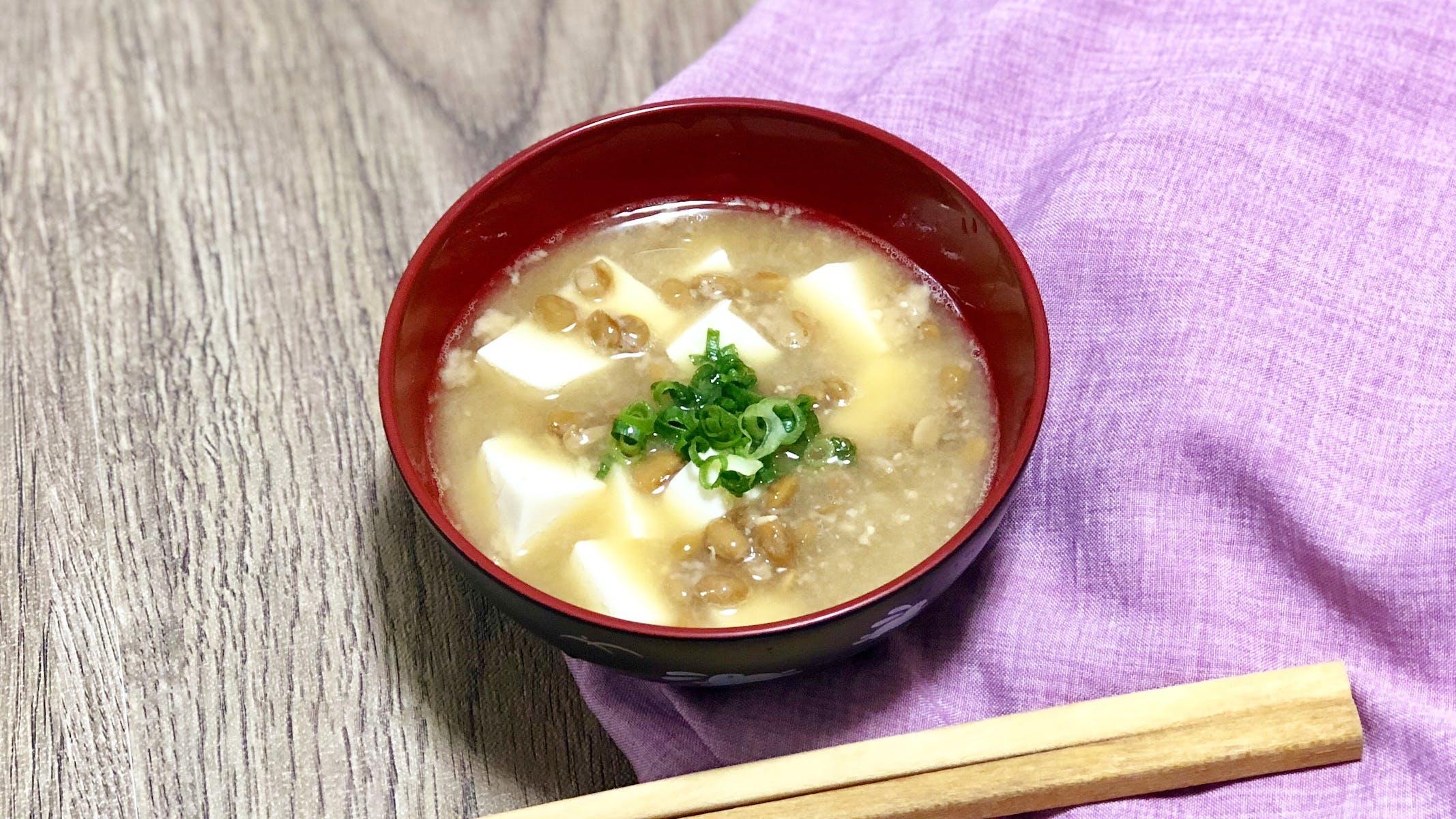 納豆のお味噌汁