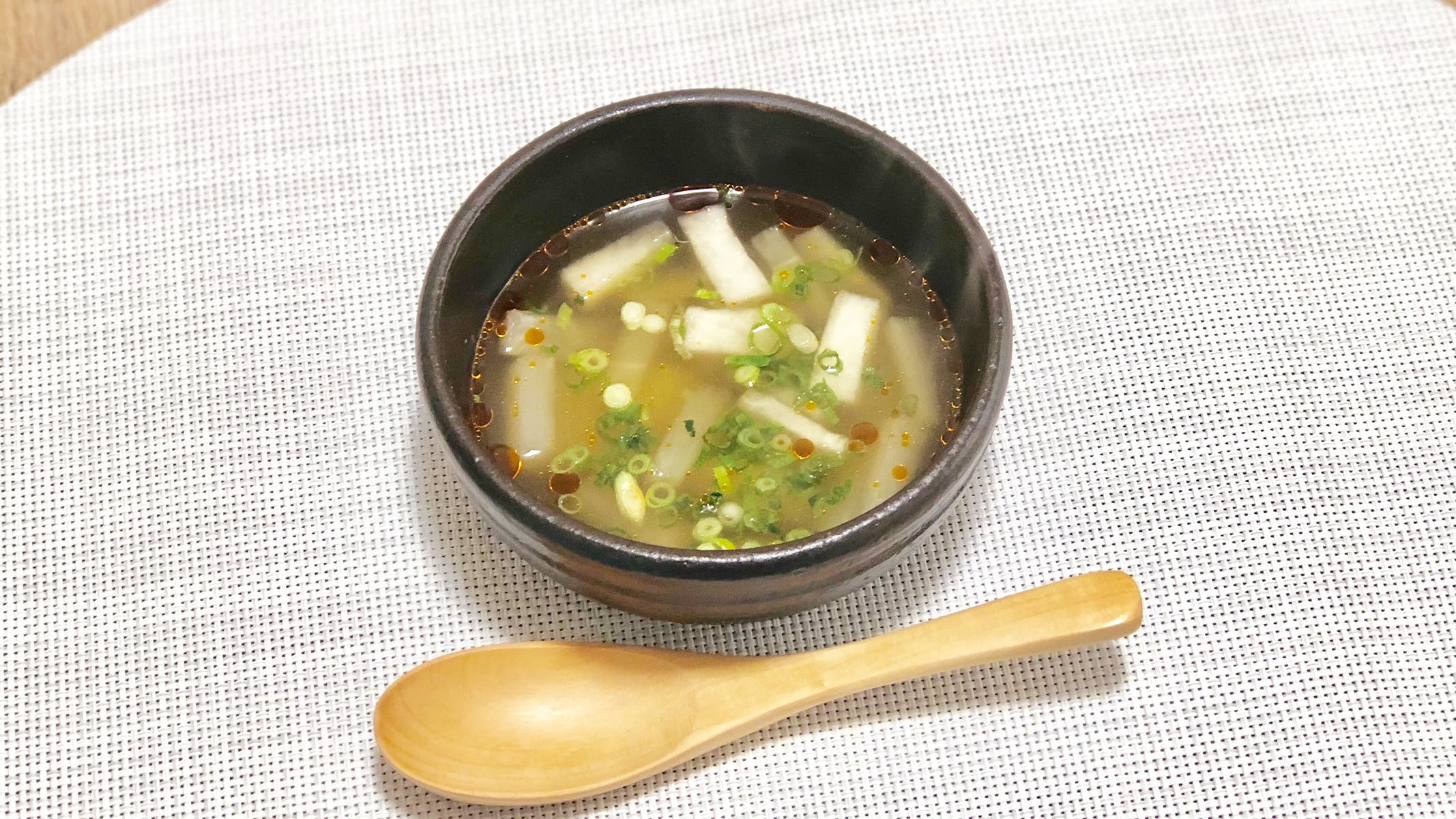 大根のピリ辛スープ
