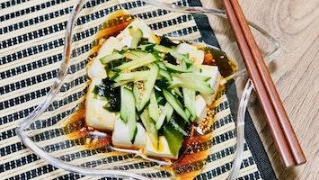 豆腐ときゅうりの中華風サラダ