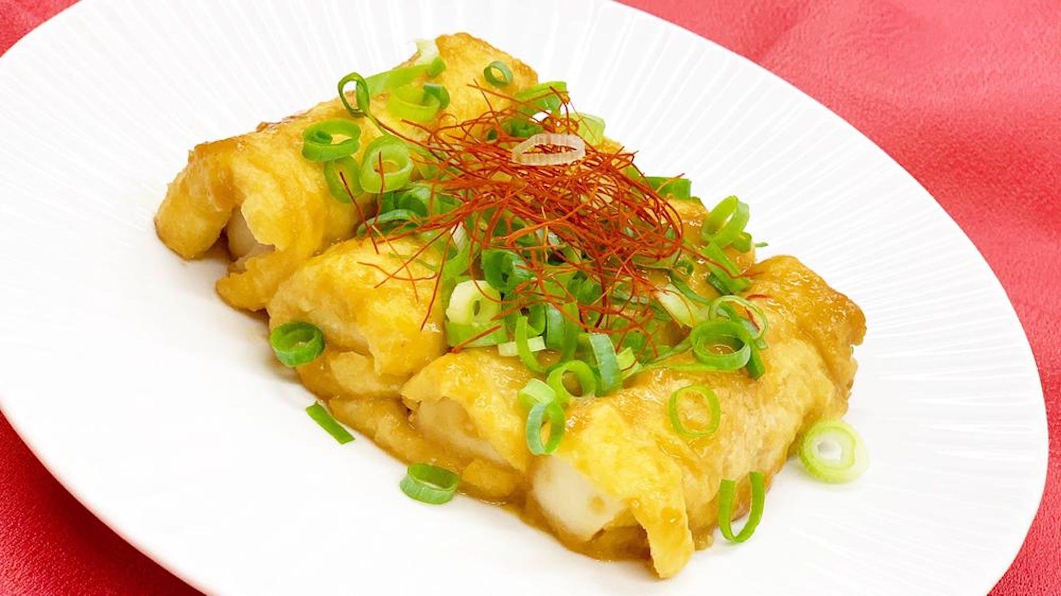 高野豆腐と牛肉の油揚げ巻き