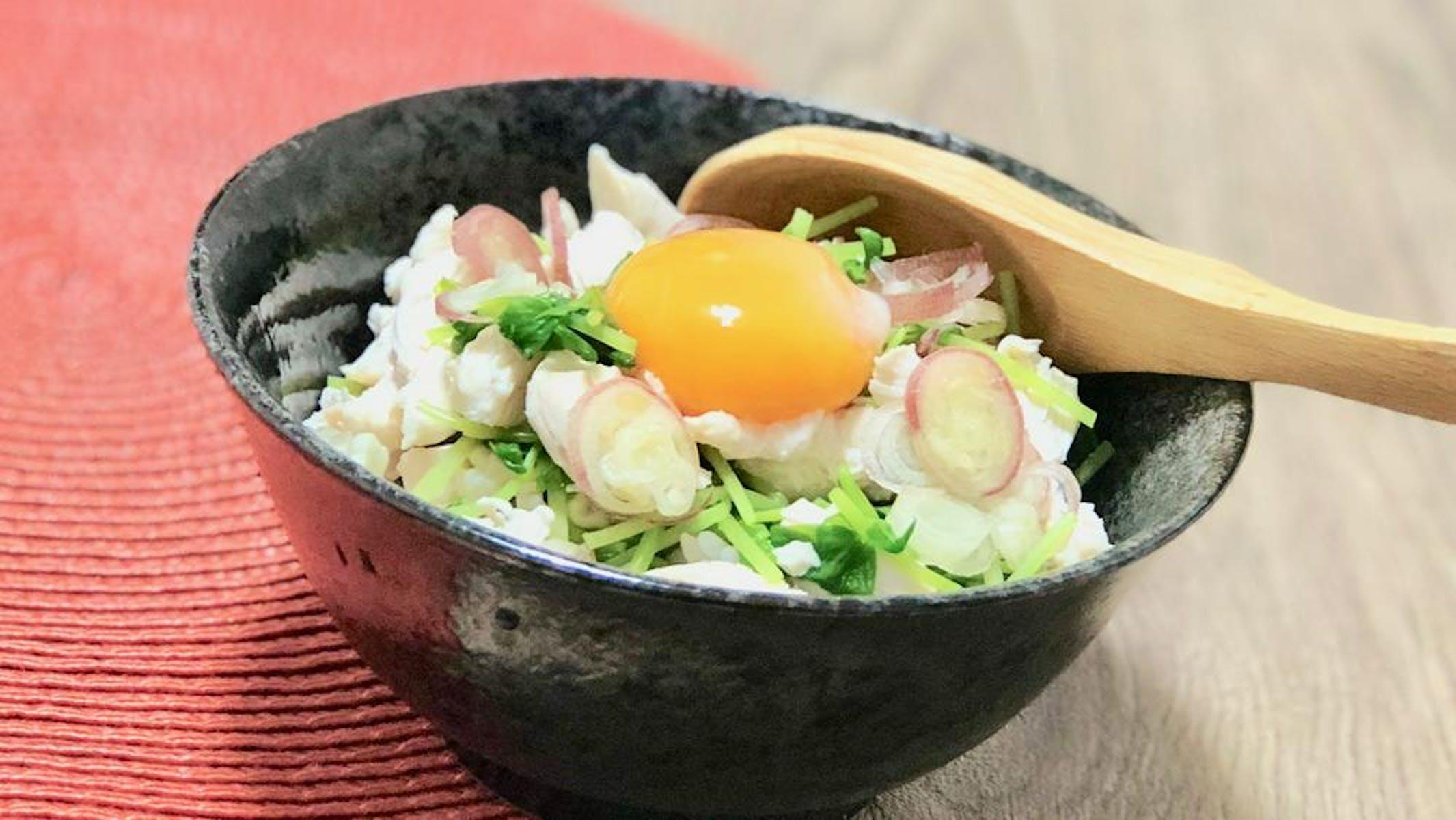 ささみと香味野菜の節約さっぱり丼